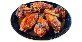 Chicken wings with butter & beer