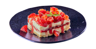 Strawberry and mascarpone lasagna