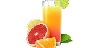 Fresh orange and grapefruit
