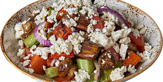 Country salad with roasted vegetables