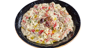 Katuk with roasted peppers
